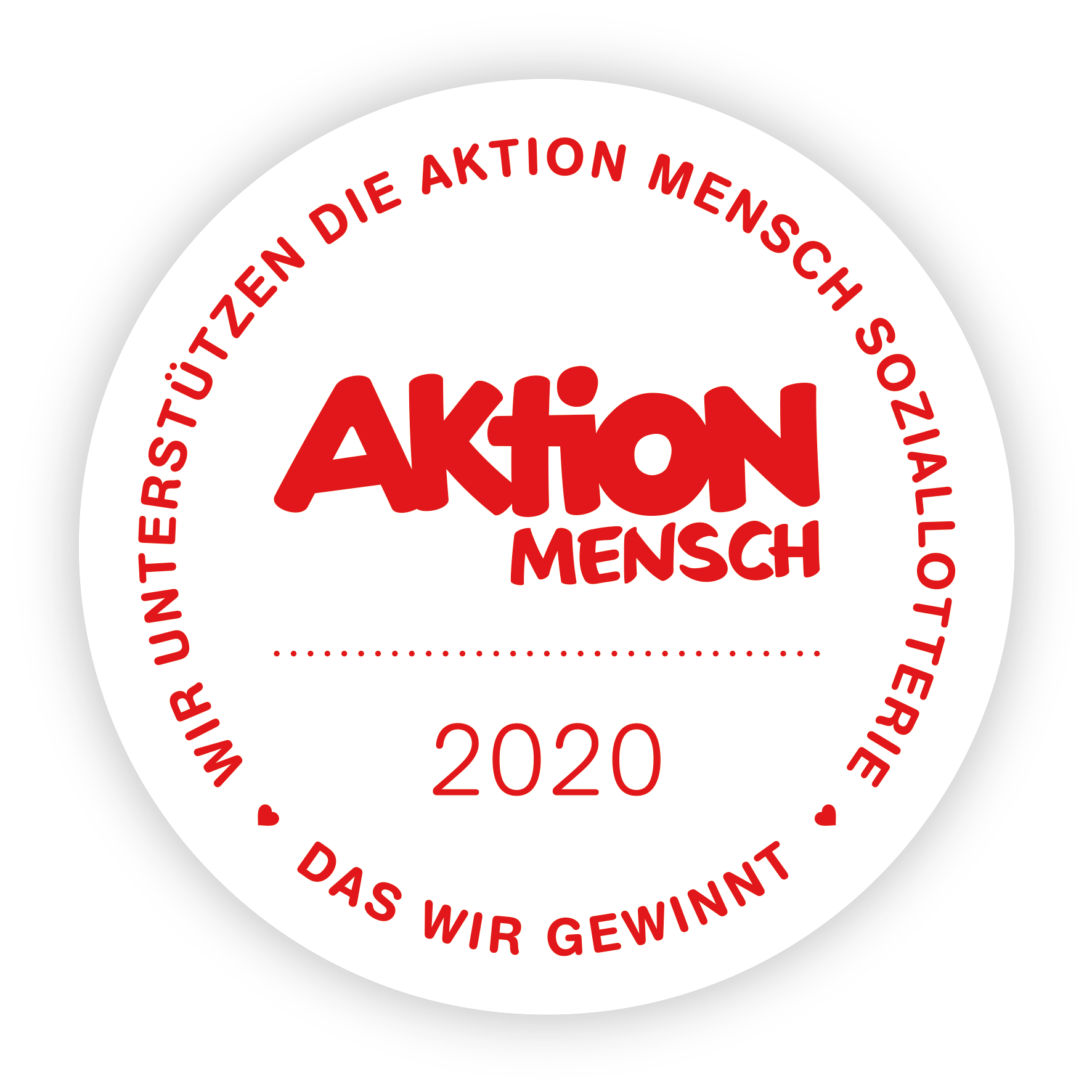 "We support the ""Aktion mensch project"""
